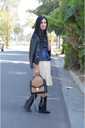 wedge boots Giuseppe Zanotti boots - Sole Society bag - peplum H&M top