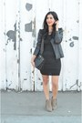 Dark-khaki-dolce-vita-boots-black-splendid-dress-black-vanessa-bruno-jacket