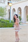 Nude-sandro-dress-light-pink-valentino-coat-light-pink-miu-miu-heels