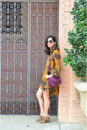 camel free people dress - magenta JustFab bag - camel Chinese Laundry heels