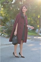 magenta vintage cape - black Marc by Marc Jacobs bag - black Shareen skirt