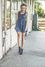 Black-zealotries-shoes-blue-jeans-oasap-dress