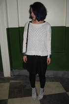 dalmatian print Primark boots - black Crea Concept dress - white H&M jumper