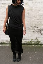 black draped Aminaka Wilmont top - Margiela x H&M boots
