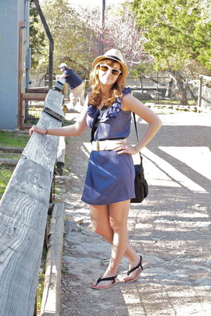 blue Pins & Needles dress - beige Pins & Needles hat - beige Kimchi&Blue shoes -