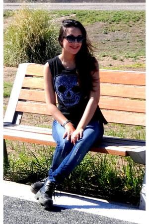 jeans octanos jeans - black koxis t-shirt