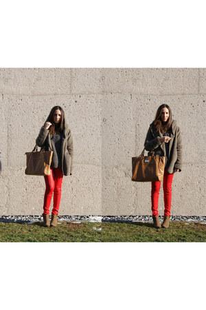 Mango jeans - tan Zara boots - Mango bag - Mango jumper - H&M ring