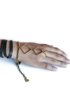brass leather bracelet