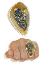 druzy sterling ring