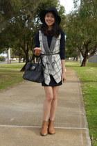 Dotti vest - rubi boots - Missguided dress - cotton on hat - Mulberry bag