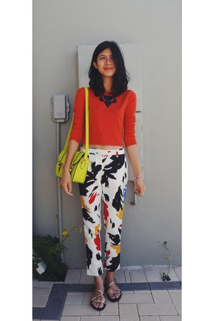 yellow Colette bag - carrot orange Ally Fashion top