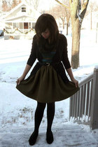 army green Self Made skirt - black Target cardigan - black Simply Vera by Vera W
