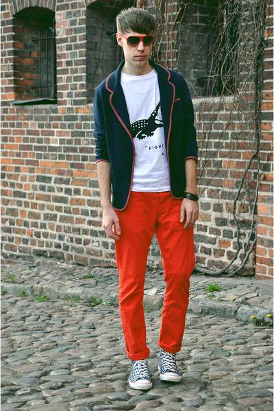 H&M jeans - newlookcom blazer - H&M sunglasses - 5Preview t-shirt - Converse sne