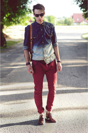 Zara shirt - ruby red asoscom shoes