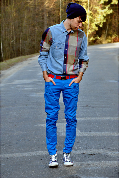 Remaked 2in1 shirt - asoscom hat - Cubus belt - pull&amp;bear pants