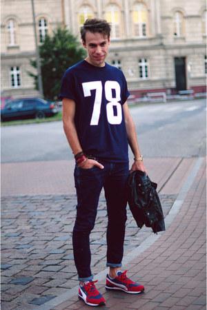 navy Ptaszek t-shirt