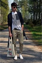 Cubus sunglasses - BeachFashionShop t-shirt - reserved belt - reserved pants - a
