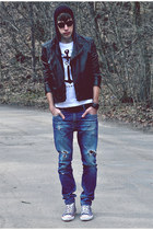 pull&bear jeans - asoscom jacket - asoscom sunglasses - Converse sneakers - 5Pre