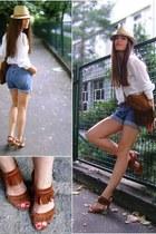 fedora Zara hat - fringes Jennifer bag - fringes bullboxer sandals