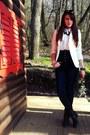 Black-boots-navy-jeans-ivory-blazer-white-shirt-dark-gray-accessories