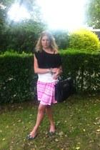 H&M skirt - Mulberry Bayswater bag - Miu Miu heels - H&M blouse