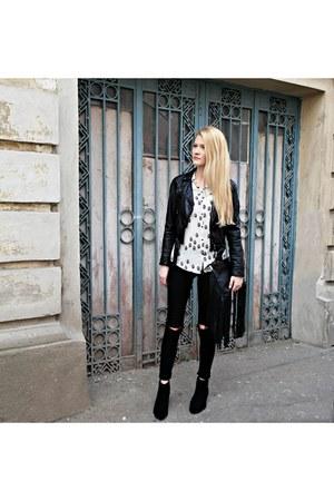 H&M boots - asos jeans - H&M jacket - Zara shirt - H&M bag