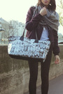 Gray-hypemeansnothing-purse-purple-maje-jacket-gray-american-apparel-shirt-