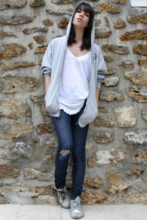 foot locker jacket - Zara shirt - Cheap Monday jeans - Spring Court shoes