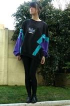 adidas sweater - American Apparel leggings - ANDRE shoes - Zara