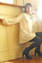 American Apparel panties - Zara dress - mellow yellow shoes