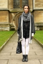 gray American Apparel scarf - black Topshop shoes
