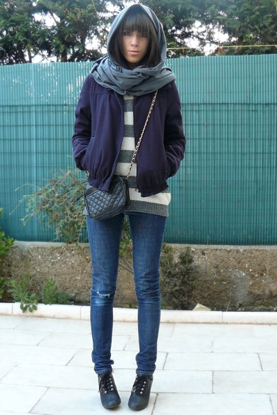 thrifted accessories - Maje blazer - united colors of benetton sweater - Cheap M