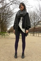 white Zara shirt - gray Quai de Scene shoes - gray Version Originale sweater