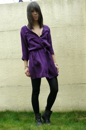 purple SANDRO dress