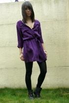 purple SANDRO dress