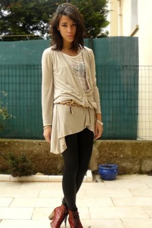 Comptoir des Cotonniers shirt - Zara dress - American Apparel blazer - American