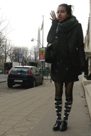 H&M scarf - Comptoir des Cotonniers blazer - Topshop sweater - American Apparel