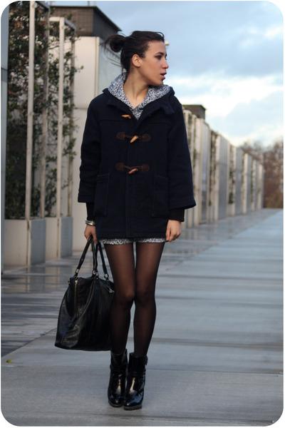 Guerrisol coat - American Apparel dress - mellow yellow boots - Addicted purse