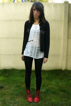 Mums sweater - Comptoir des Cotonniers shirt - American Apparel leggings - Dr Ma
