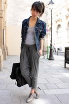 Levis jacket - Topshop top - Minelli shoes - Addicted purse