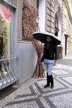 Mexx purse - Stradivarius jeans - Stradivarius blouse - Zara blazer - Stradivari