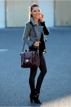 charcoal gray jacket - black pants