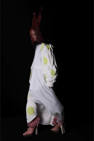 off white Rare Field dress - ivory Rare Field coat
