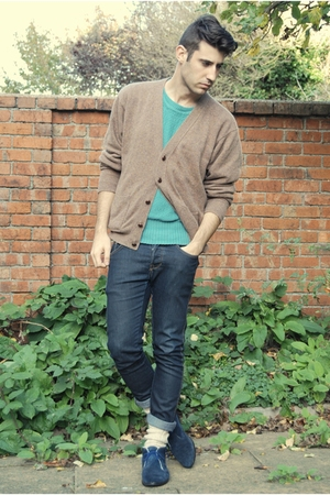 vintage jacket - vintage sweater - H&M jeans - bought in a street market socks -