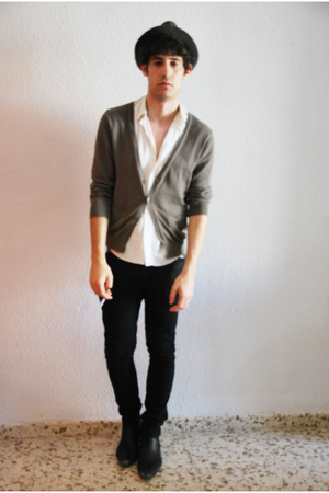 Zara cardigan - united colors of benetton shirt - Cheap Monday jeans