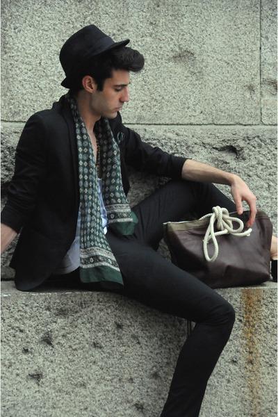 asos suit - Coral Garrett bag
