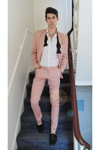 light pink suit