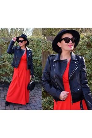 black zaful jacket - black Chloe bag - black Celine sunglasses