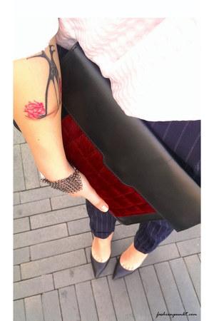ruby red asos bag - black Kurt Geiger pumps - light pink Selected romper