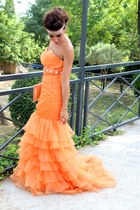 carrot orange lightinthebox dress